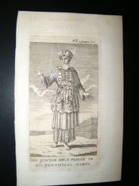 Religious C1750 Antique Print. Judaica. Jewish High Priest